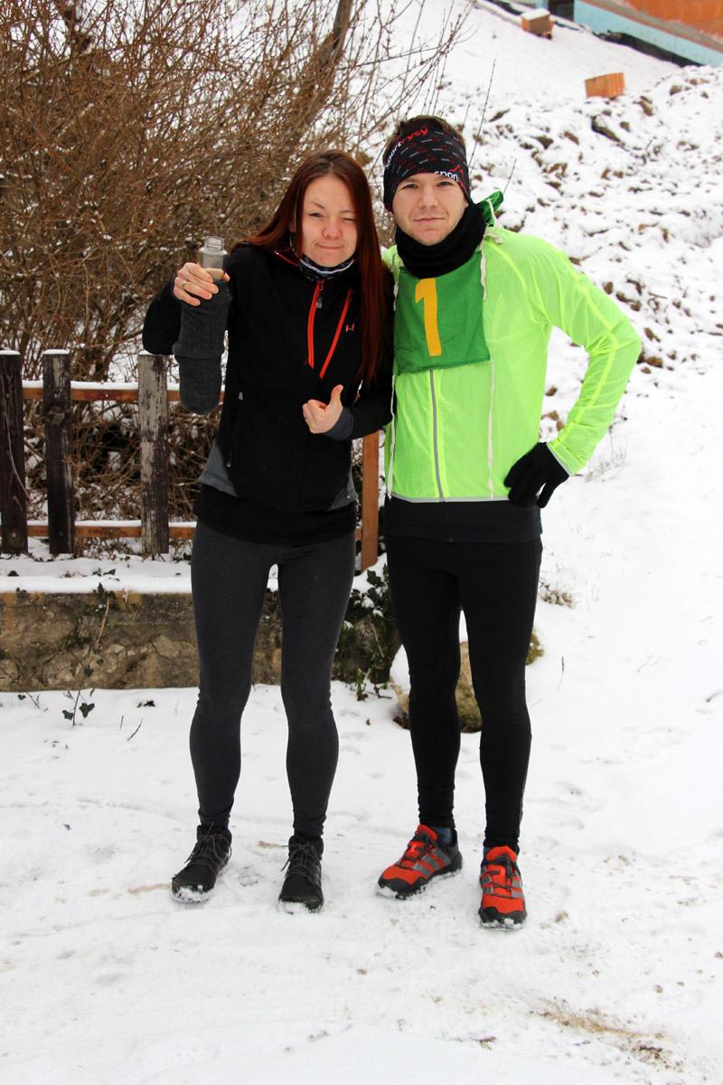 Katarína Janurová a Peter Knížat pred štartom