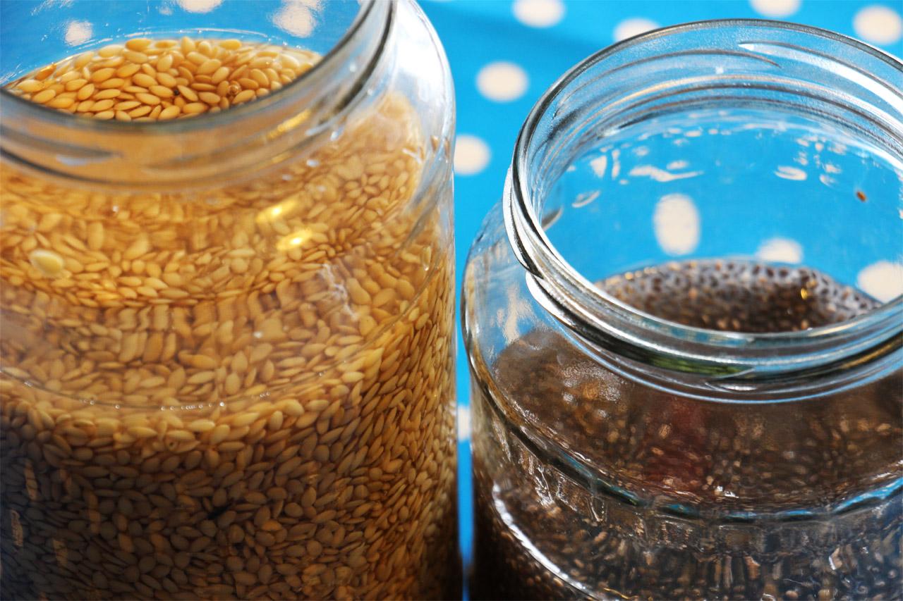 Namočené ľanové a chia semienka Z jedálnička bežca #7