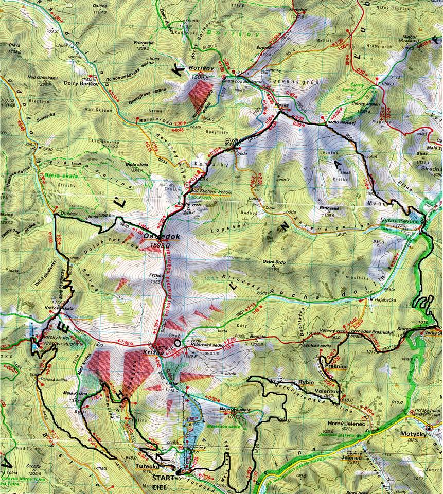 Expresky z hôr 45 - Krížna, krížom, krážom ULTRA - 52 km trať