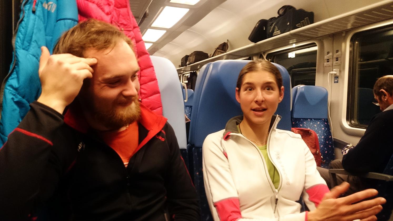 cesta vo vlaku v patiok smer Vysoké Tatry