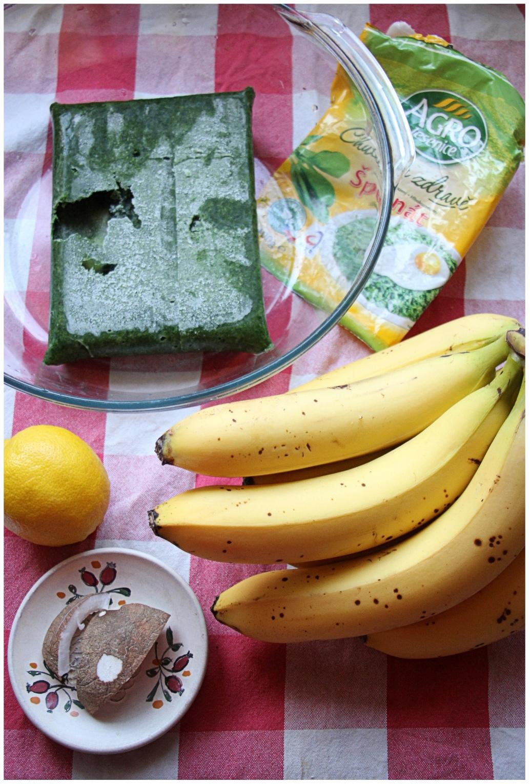 Potrebné prísady pre zelenú variantu