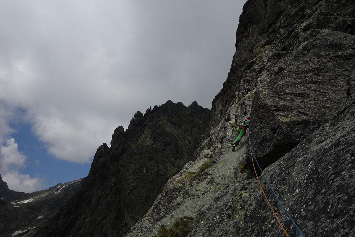Velická stena cesta cez Výlom, Vysoké tatry