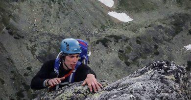 Velická stena, cesta cez Výlom IV/ -V UIAA, Vysoké Tatry