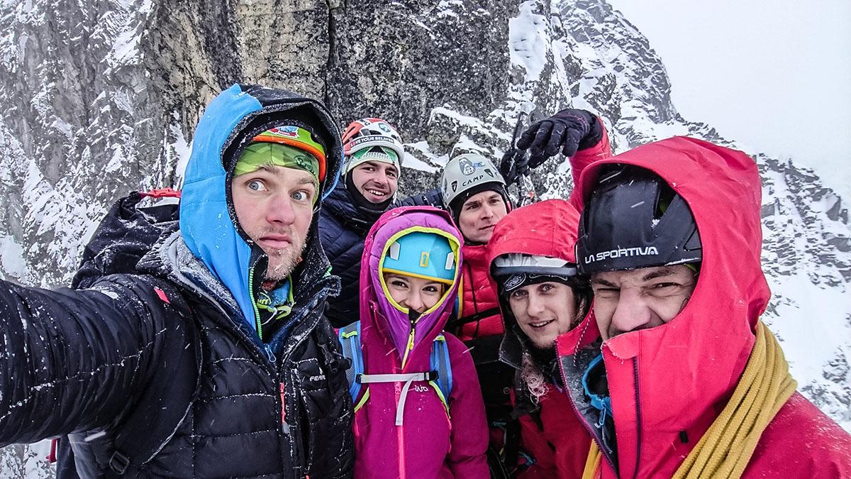 Veľký Mlynárov žľab vrchol zimnej lezeckej cesty