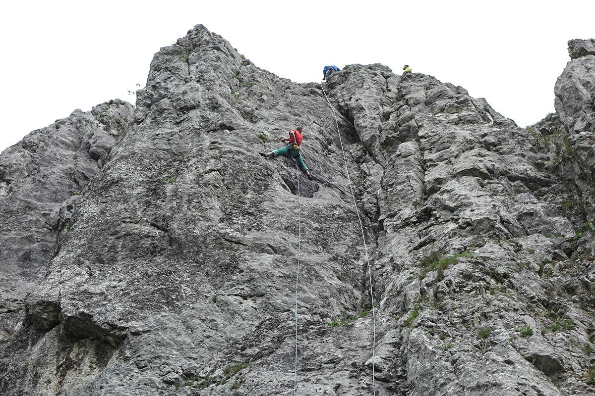 Janko lezie na veternom pekné lezecké cesty