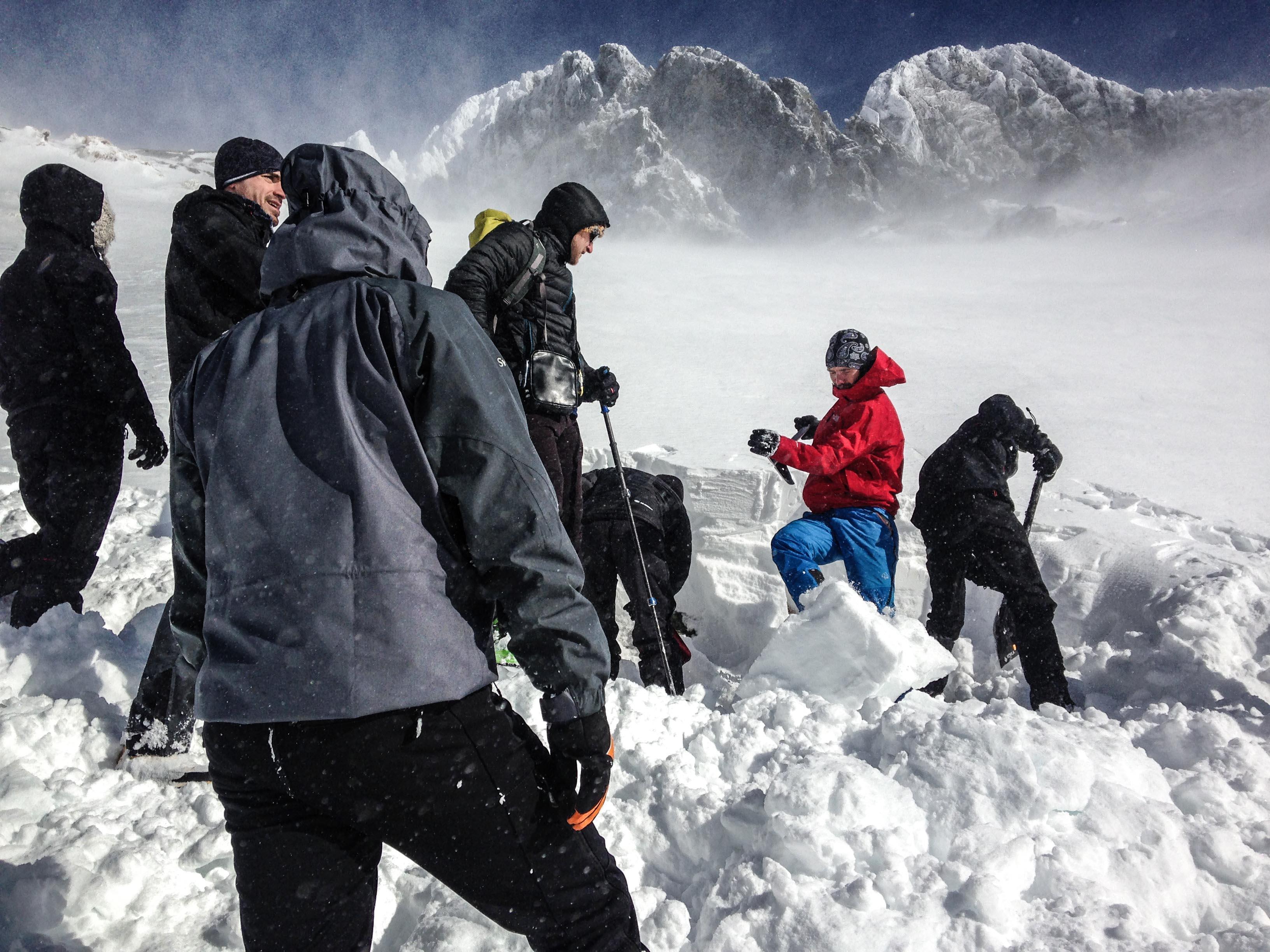 lavínový kurz 2017 vysoké tatry zbojnícka chata